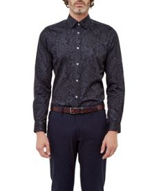Ted Baker Patman Tonal Floral Cotton Shirt