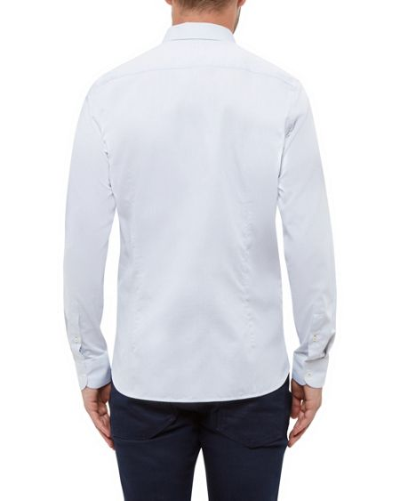 Ted Baker Newtune Micro Dobby Cotton Shirt