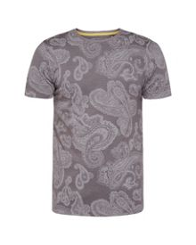Ted Baker Lotto Paisley Print Cotton T-Shirt