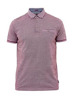 Quince Geo print cotton polo shirt