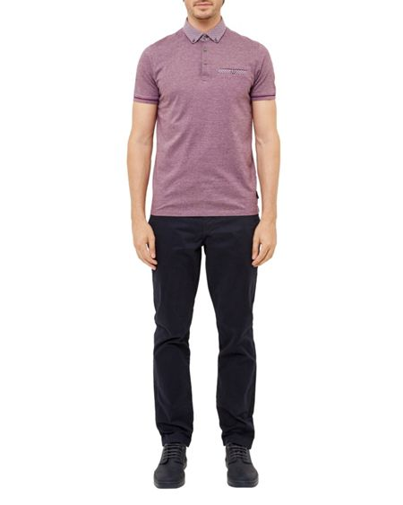 Ted Baker Quince Geo print cotton polo shirt
