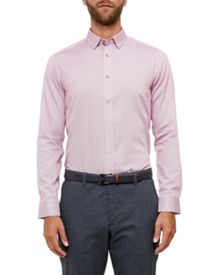 Ted Baker Ronberg Geo print cotton shirt