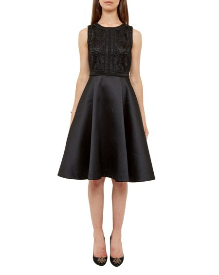 Ted Baker Sopia Embroidered Bodice Full Dress