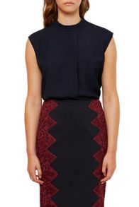 Ted Baker Vaniah Dropped Hem Pleated Top