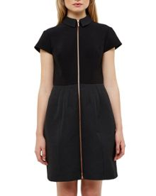 Ted Baker Deezy Zip Front Textured Dress