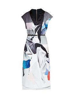 Lysari Artistic Splash Midi Dress