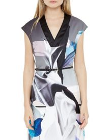 Ted Baker Lysari Artistic Splash Midi Dress