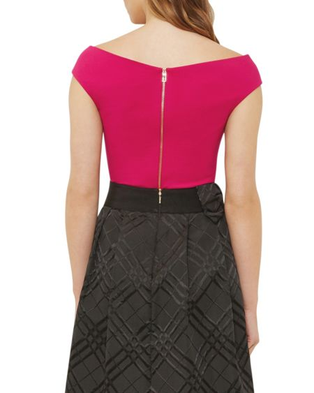 Ted Baker Teimah Cropped Bardot Top
