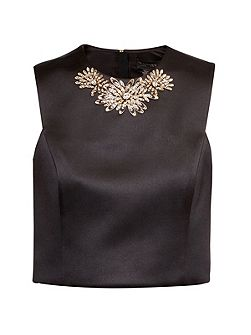 Jaby Embellished cropped top