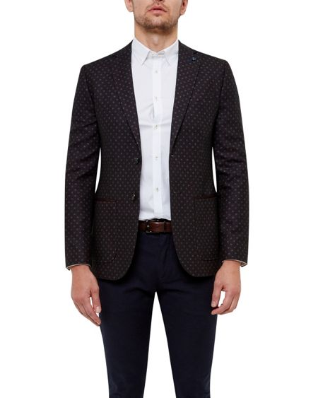 Ted Baker Rogers Diamond print jacket