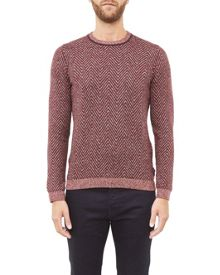 Ted Baker Uncle Herringbone crew neck jumper