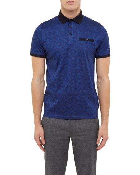 Ted Baker Eduardo Space dye cotton polo shirt