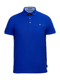 Dino Textured Jersey Polo Shirt