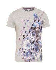 Ted Baker Therzo floral graphic cotton t-shirt