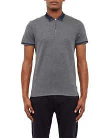 Ted Baker Zeno Zip front polo shirt