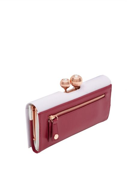 Ted Baker Maycii Two-Tone Leather Matinee Purse