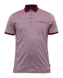 Ted Baker Prime Geo Print Cotton Polo Shirt