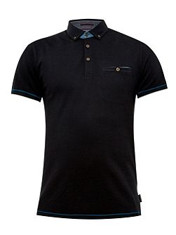 Vito Ribbed cotton polo shirt