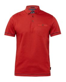 Ted Baker Vito Ribbed cotton polo shirt