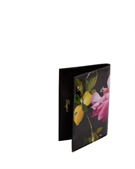 Ted Baker Lahela Citrus Bloom Leather Passport Holder
