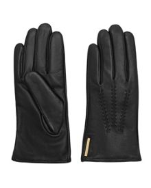 Ted Baker Hollis Metallic Bar Leather Gloves