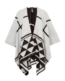 Ted Baker Manto Geo checked print cape