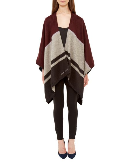 Ted Baker Lydie Striped Cape