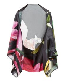 Ted Baker Cavan Citrus Bloom Silk Cape Scarf