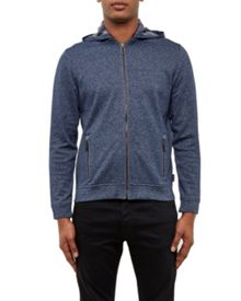 Ted Baker Jipeto Textured zip up hoodie