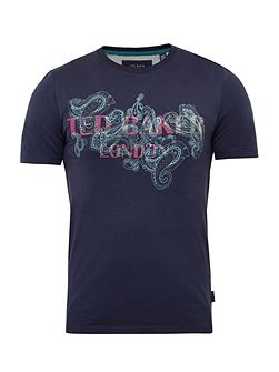 Romolo Graphic paisley cotton T-shirt