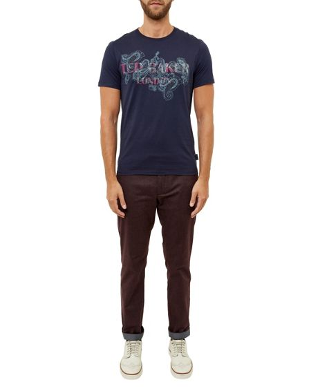 Ted Baker Romolo Graphic paisley cotton T-shirt