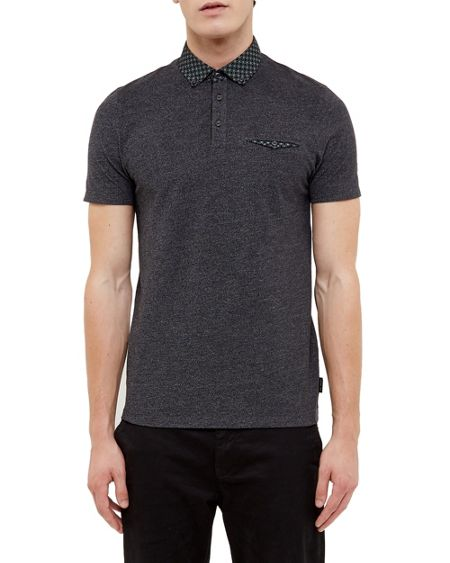 Ted Baker Raffa Geo print collar polo shirt
