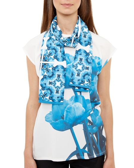 Ted Baker Brigite Blue Beauty Skinny Scarf