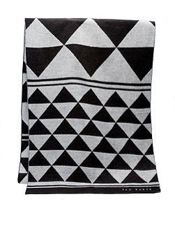 Randie Monochrome Patterned Scarf