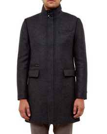Ted Baker Logan Funnel Neck Overcoat