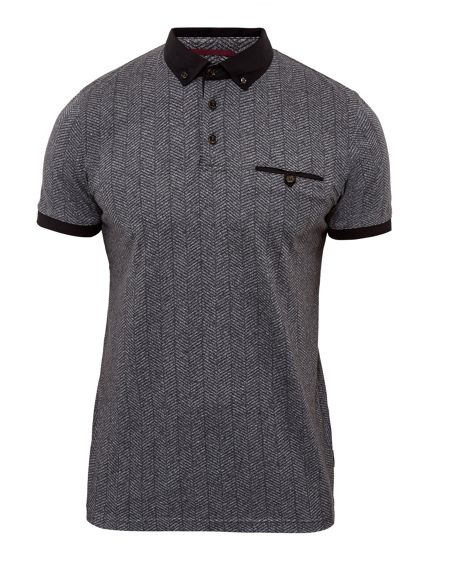Ted Baker Bobbie Herringbone polo Shirt