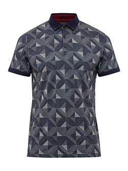 Guido Geo print cotton polo shirt