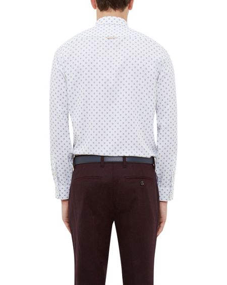 Ted Baker Poltwo Geo print cotton shirt