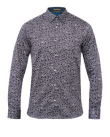 Ted Baker Woodys Floral Print Cotton Shirt