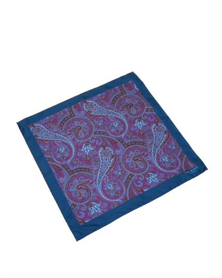 Ted Baker Dompock Paisley silk pocket square
