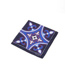 Ted Baker Tilepok Geo print silk pocket square