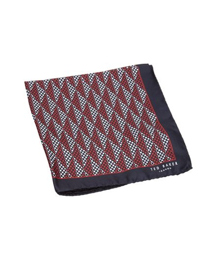 Ted Baker Spotmen Geo print silk pocket square