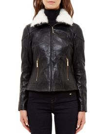 Ted Baker Calanda Shearling leather jacket