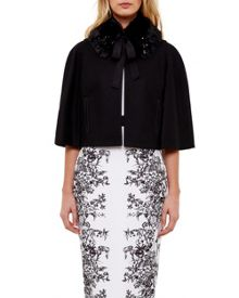 Ted Baker Lex Faux Fur Collar Jacket