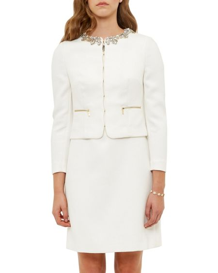 Ted Baker Hamli Embellished Cropped Jacket