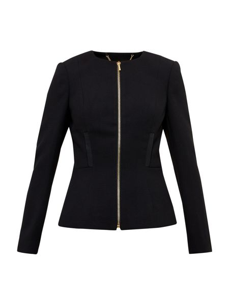 Ted Baker Taalii Textured Fitted Jacket