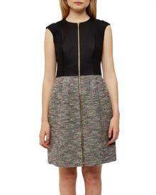 Ted Baker Kyokod Bouclé Front Zip Dress