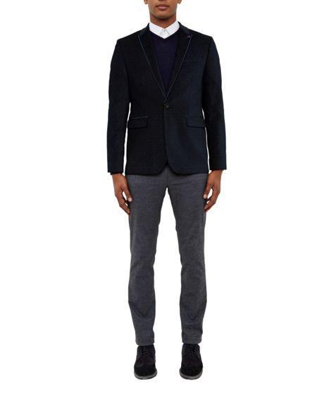 Ted Baker Ernest Pin dot cotton jacket