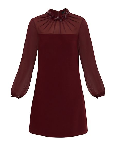 Ted Baker Cacey Sheer Embellished Dress