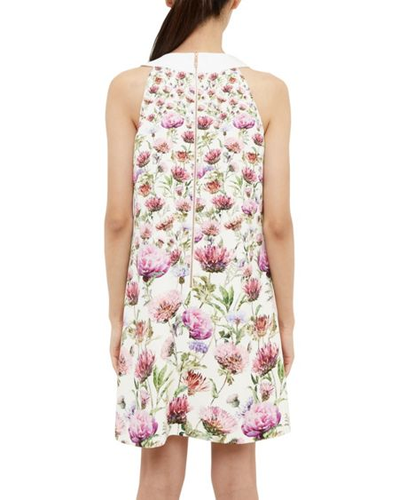 Ted Baker Lucilee Thistle Tie Neck Tunic Dress